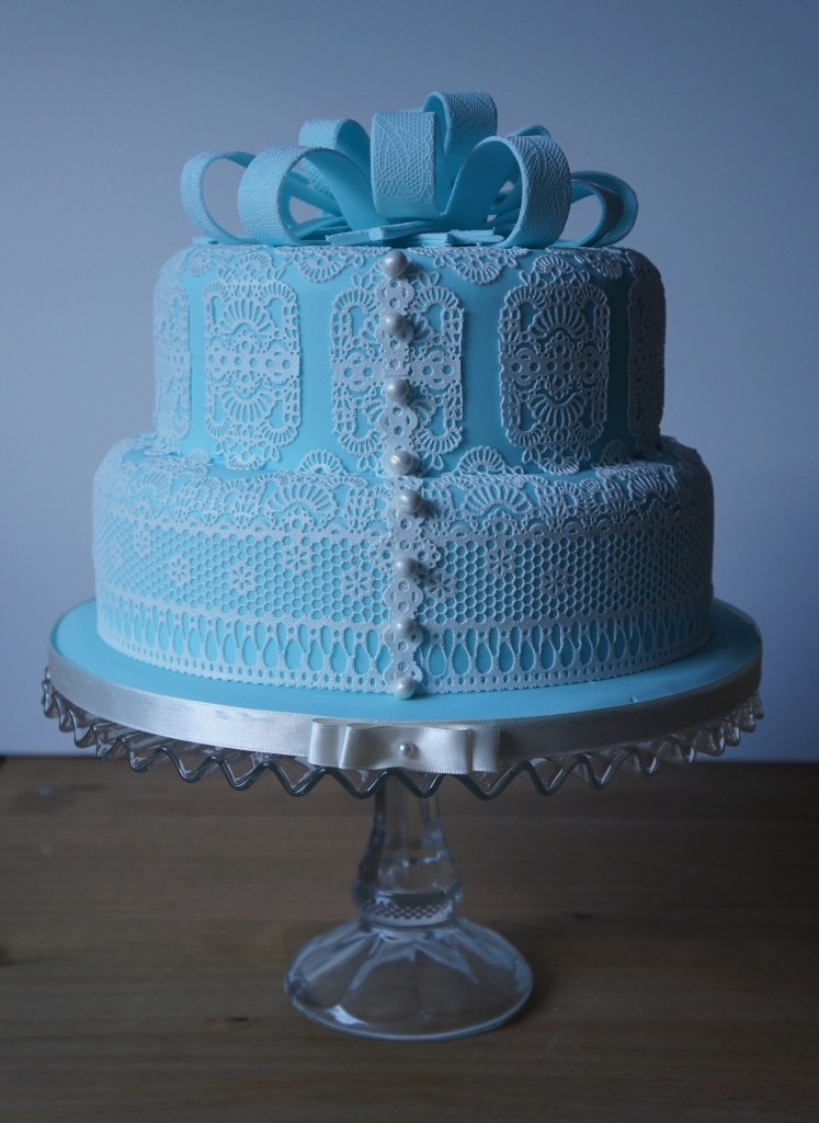 wedding cake delivery fee blue lace wedding cake coppice cakes 22429