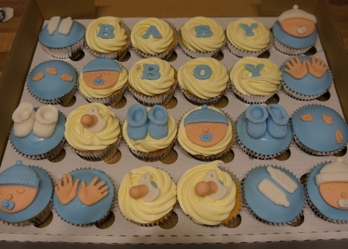 Baby Shower Cakes Eastbourne ~ Boys baby shower cupcakes coppice cakes